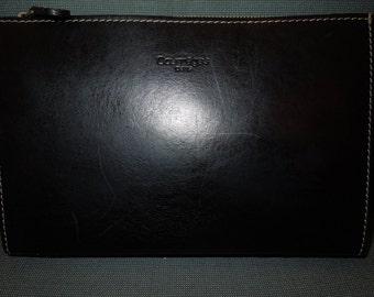 Authentic Courreges Paris Pouch Black Leather