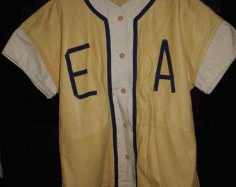 Authentic Vintage Emporio Armani L21 Baseball Center Leather Baseball Uniform