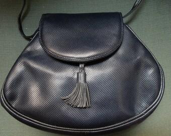 Authentic Vintage BOTTEGA VENETA Navy Blue Flap Bag