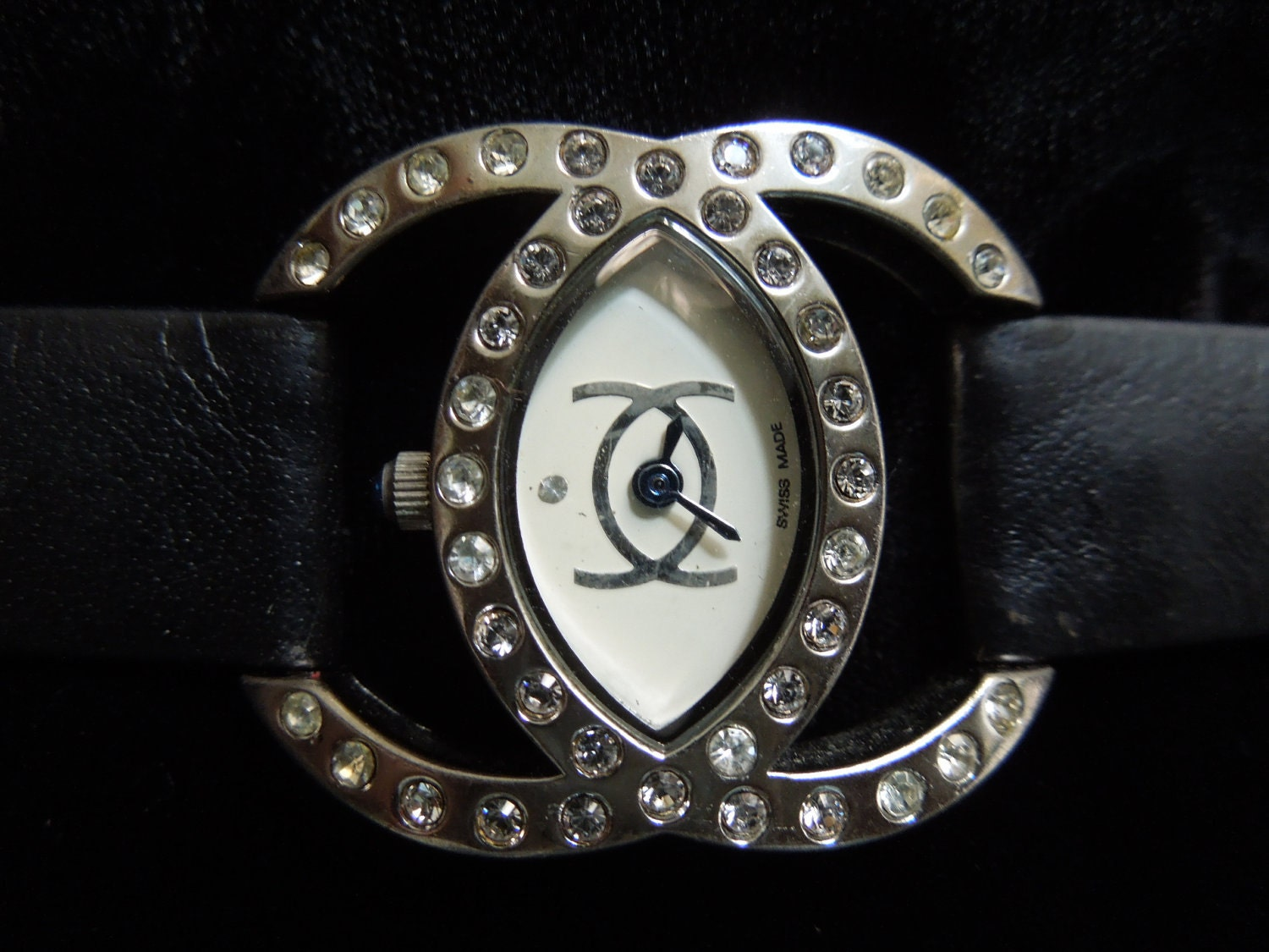 Chanel Ladies Watch Cc Logo With Crystals Model Fm 44196