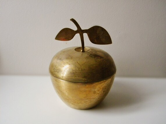 Vintage Brass APPLE & PEAR Containers
