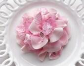clearance sale/4PCS Limited spring lace flower applique corsage hair flower 3 colors (pink)