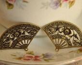 10cs antique bronze  plating fan   pendant finding