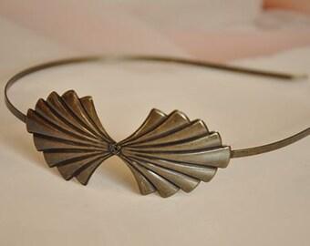 2 pcs raw Brass  plating antique bronze  flower Filigree hairband pendant finding