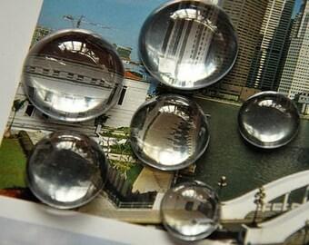 20 pcs 3D effect hemisphere   glass cab