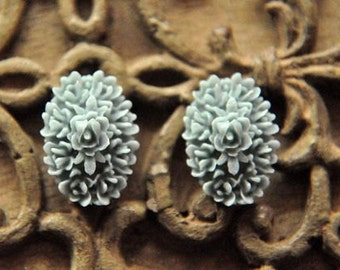 6pcs  resin flower    Cabochons  pendant finding  RF030