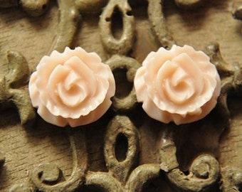 8pcs light pink   resin flower   Cabochons  pendant finding  RF035
