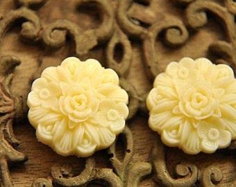 10pcs white   resin flower cab    Cabochons  pendant finding  RF044