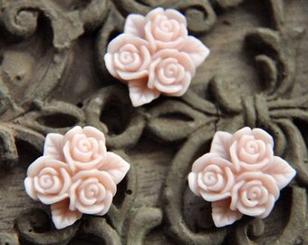 10pcs  resin flower cab    Cabochons  pendant finding  RF045