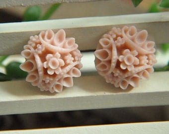 20pcs light pink  resin flower cab    Cabochons  pendant finding  RF046
