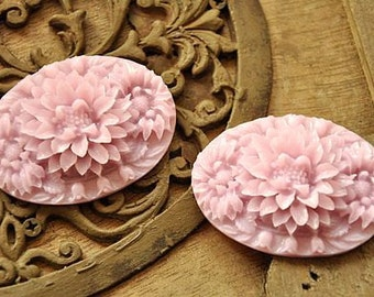 8pcs   resin flower cab    Cabochons  pendant finding  RF050