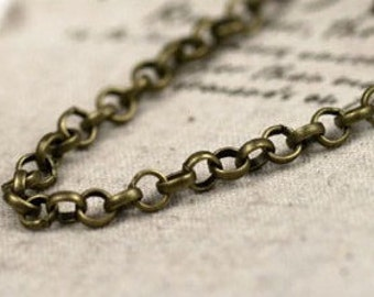 3meter plating antique bronze  chain
