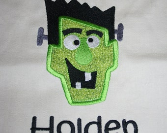 "Trick or treat applique bag ""Frankenstein"""