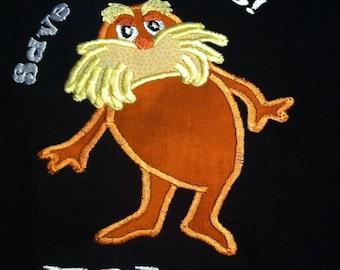Applique Dr. Seuss' The Lorax T-shirt