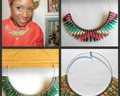 Custom Color Tribal Bib Collar Necklace