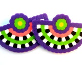 Colorful Tribal Earrings- Custom Colors Available