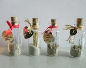 12 Mini Message Bottle FAVORS, GIFTS or PLACE settings with or without super strong magnet sold in lots of 12 or more