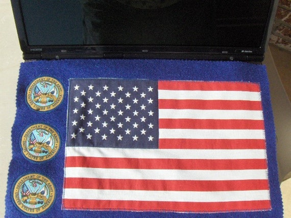Handmade United State Department Of The Army Logo Laptop Computer Screen Keyboard Protector Mat American Flag
