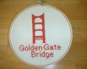 Golden Gate Bridge Counted Cross Stitch Pattern