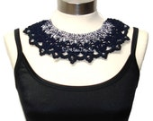 North Star crochet knitted statement collar necklace - Spring 2012