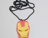 Avengers Iron Man Mask Pendant Necklace