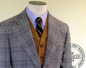 RESERVED FOR BRAD -- Vintage Men's Southwick Glen Plaid Wool Two-Button Suit
