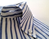 RESERVED -- Vintage Men's Brooks Brothers Blue & White Striped Button-Down Shirt, 17-R -- RESERVED