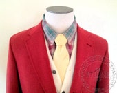 "Vintage Deadstock Men's Brooks Brothers ""346"" Wool Hopsack Nantucket Red 3/2 Sack Blazer -- 40 41 L Long"