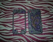 iphone 4 Iphone 4s Crystallized blinged out cell phone case