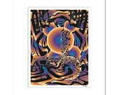 Abstract Art Print: Memesis  - Signed Limited Edition Archival Modern Art Print by Colin Goldberg - 16x20 Matted Size