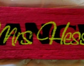 Personalized Teacher Gift Unique 100 year old barn wood desk or wall name plate sign
