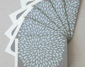 Hand Screen Printed Modern Chrysanthemum Cards - Set of 6