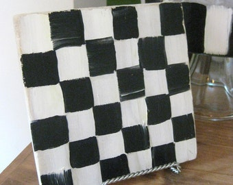 Black and White Checked Trivet