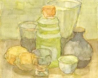 Still Life Original Watercolor