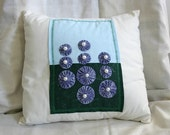 Blue flower cushion cover