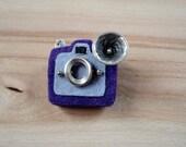 Vintage Camera Brooch - Felt Brooch