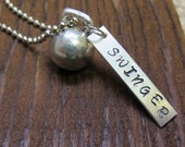 SWINGER Pendant with pewter Kettlebell Charm