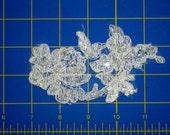 White Floral Lace Applique, left leaning