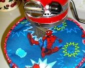 Stand mixer bowl cover/ cozy, Spiderman, 5 quart bowl