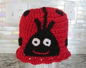 LADY BUG HAT for child. Lady bird hat.
