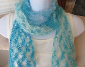 Love Knot Scarf in Aqua. Sexy Summer Scarf.  Unique gift for woman. Made to Order Item.