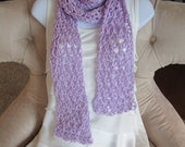 REDUCED. Lavender Love Knot Scarf. Summer Scarf.