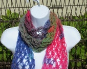LOVE KNOT SCARF in Jewel Tones. Summer Scarf.