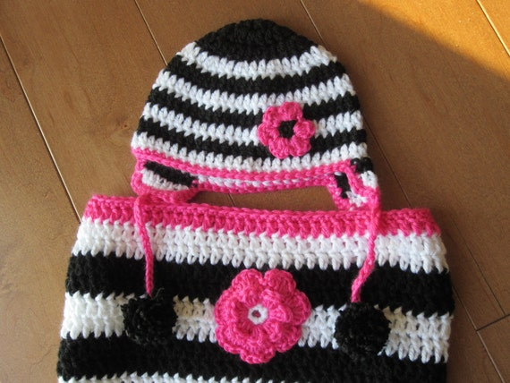 ZEBRA BABY Cocoon and Hat Set.. Clearance.