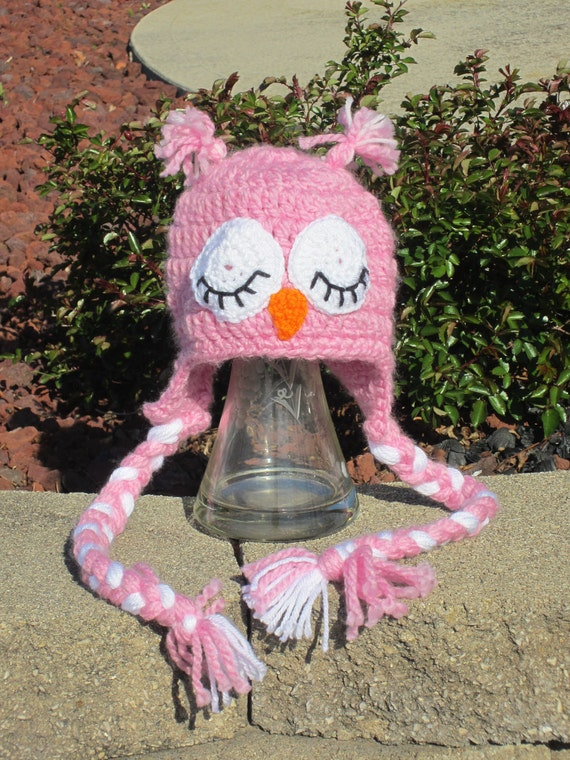 Pink Owl Hat for Child.