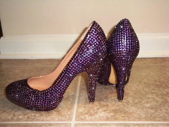 Amethyst Crystallized High Heels