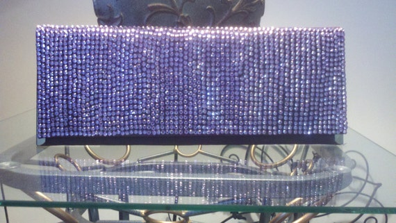 Blow Out Sale READY TO SHIP-Lavender Crystallized Clutch