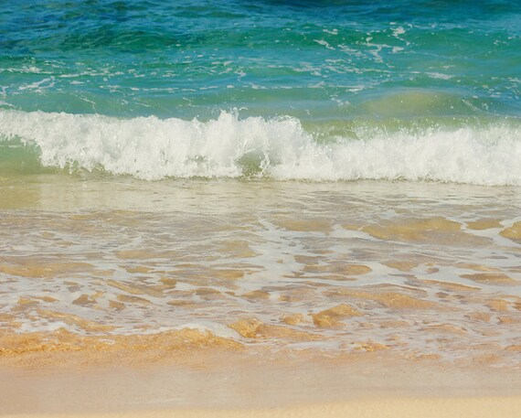 Beach Photography - travel, ocean, sea, blue, 8x10 fine art photograph