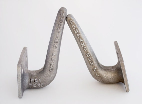 Pair of Vintage Line Holders for Marine Piling