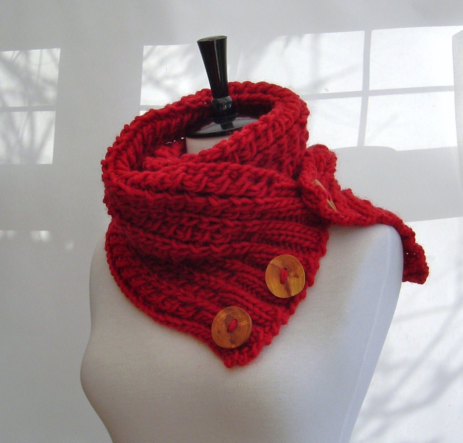 KNITTING PATTERN Infinity Scarf Cowl Chunky by ...